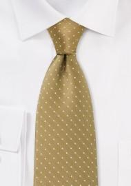 Buddha Gold Polka Dot Tie