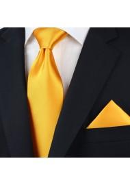 Men's Tie in Golden Saffron Styled