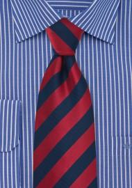 Navy and Cherry Red Kids Tie