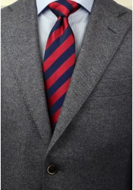 Navy and Cherry Red Kids Tie Styled