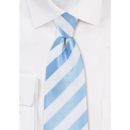 Baby Blue and White Tie