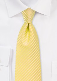 Yellow Summer Striped Kids Tie