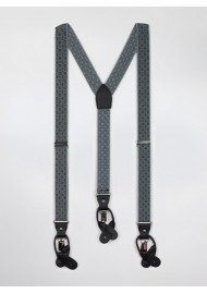 Gray and Charcoal Elastic Suspenders
