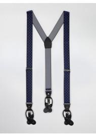 Navy Polka Dot Suspenders