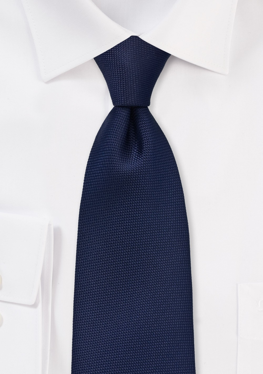Diamond Embroidered Kids Tie in Dark Navy