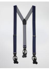 Navy mens polka dot suspenders