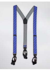 red and blue striped mens suspenders