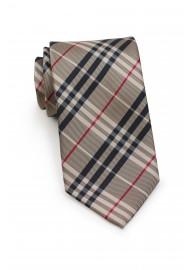 Golden Tan Plaid Tie for Kids
