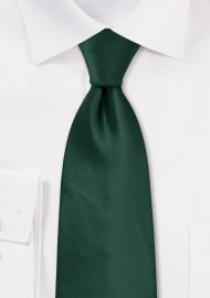 Solid Dark Green Kids Size Tie