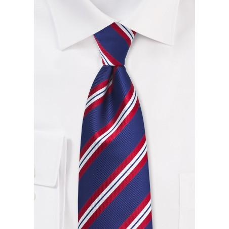 XL Stripe Tie in Red, White, Blue