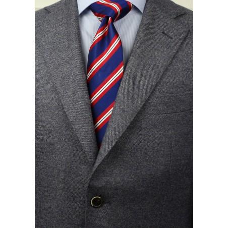 XL Stripe Tie in Red, White, Blue Styled