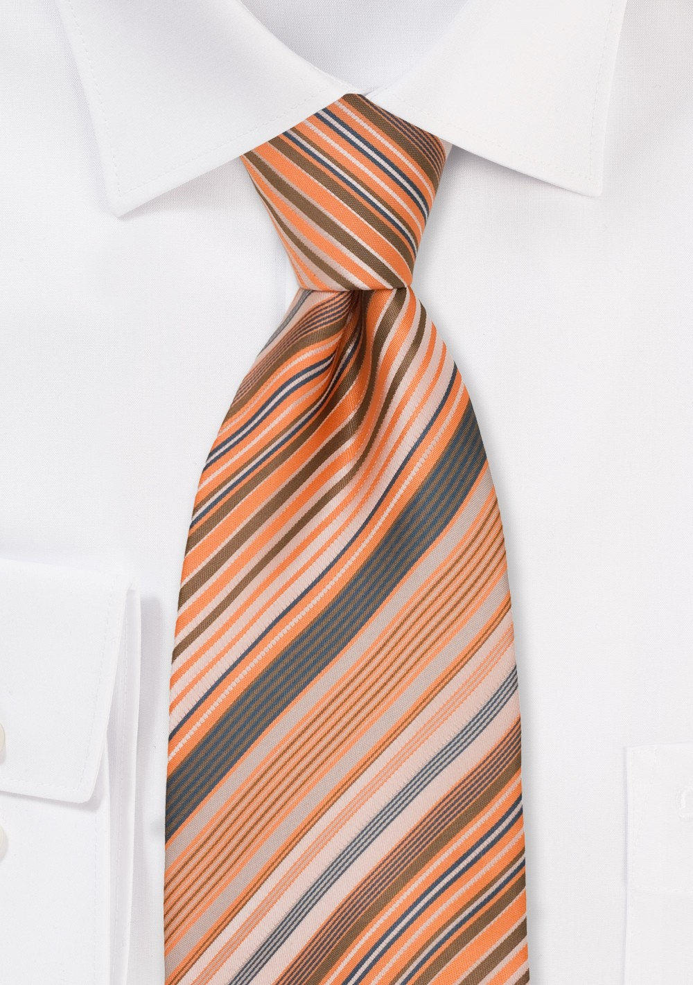 Coral Orange and Gray Kids Tie