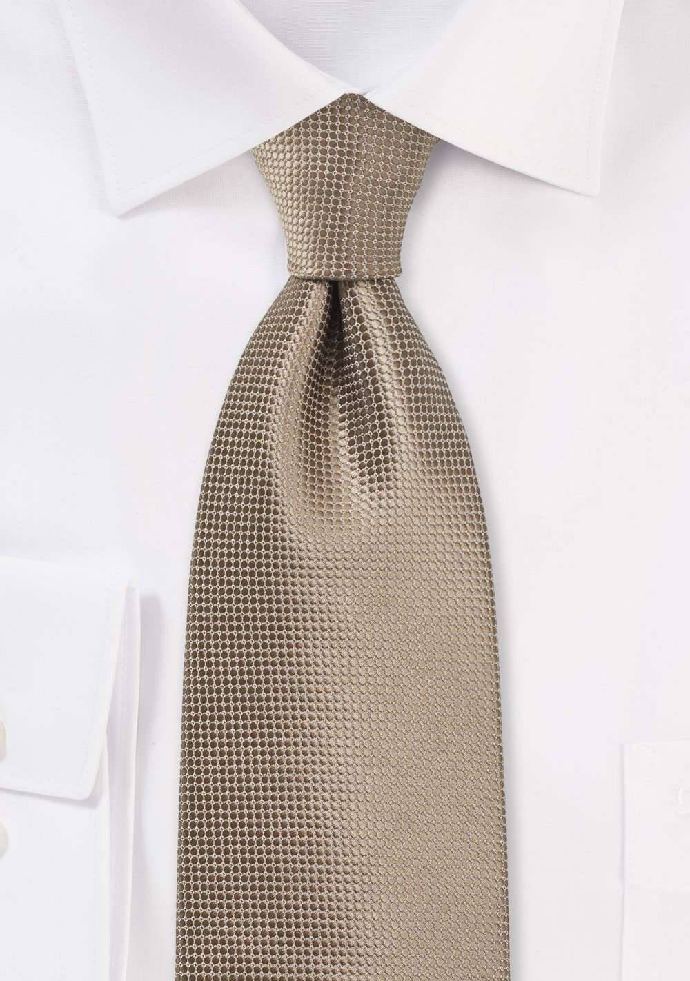XL Sized Tie in Taupe