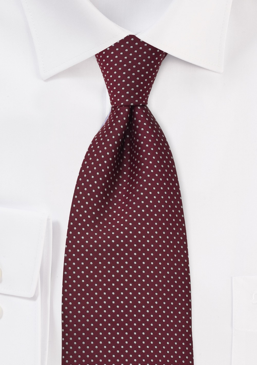 Cardinal Red Kids Neck Tie With Fine Pin Dots