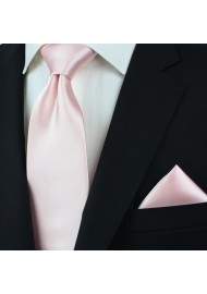 Extra Long Men's Tie in Blush Styled
