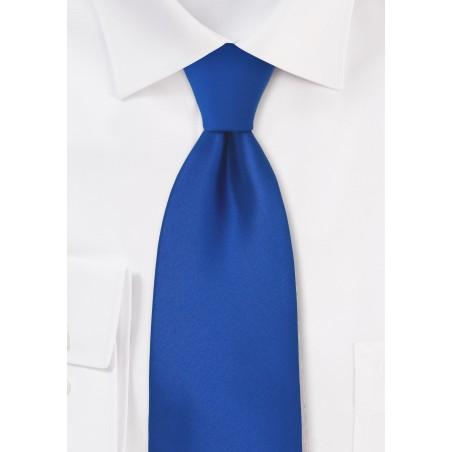 Bright Azure-Blue Necktie in XL