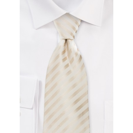 Wedding Neckties - Ivory Color Silk Tie