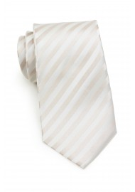 Ivory Silk Tie in XL Length
