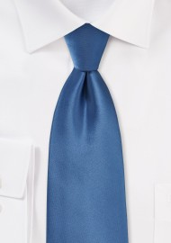 Steel Blue Tie in Long Size