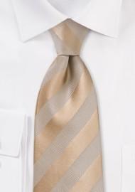 Golden Wheat Striped Kids Necktie