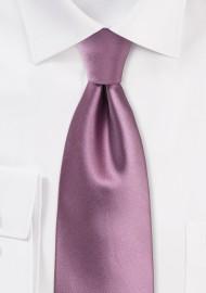 Purple Rose Tie in XL Length