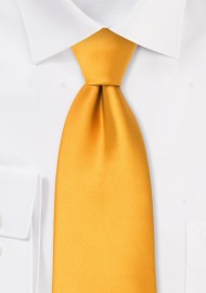 Solid Amber Yellow Kids Necktie