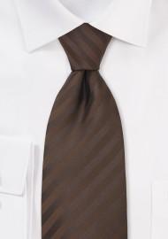 Chocolate Brown Mens Necktie