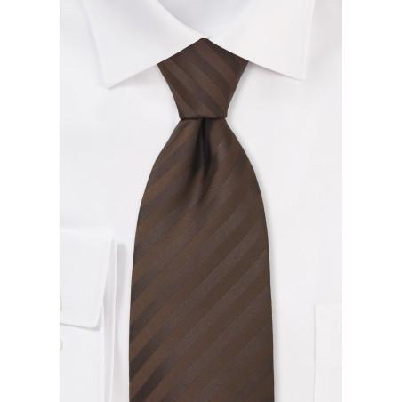 Chocolate Brown Mens Tie in XL