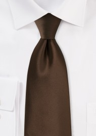Dark Brown Kids Tie