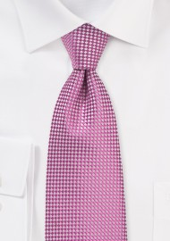 Vibrant Pink Colored Tie in XL Length
