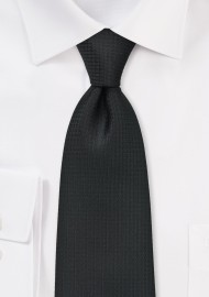 Textured Black Tie in XL Length