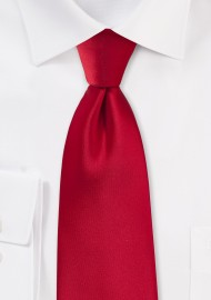 Solid Xl Sized Tie in Cherry Red