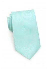 Glacier Blue Kids Tie with Paisley Pring