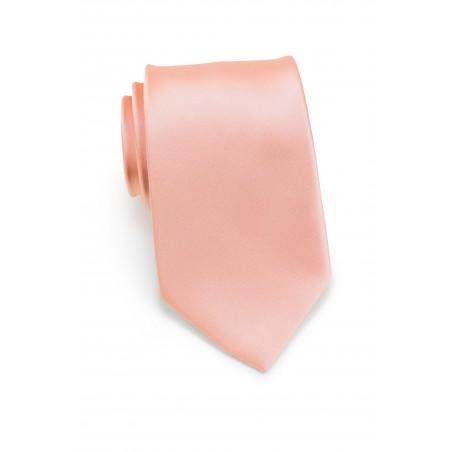 Solid Neck Tie in Peach Color