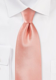 Solid Kids Tie in Pink-Coral Color