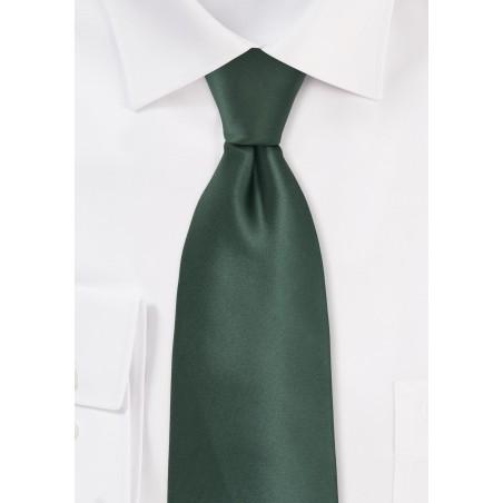 Pine Green Tie in XL Length