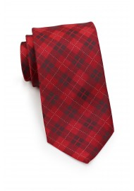 Apple Red Plaid Necktie