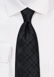 Trendy Kids Plaid Tie in Black