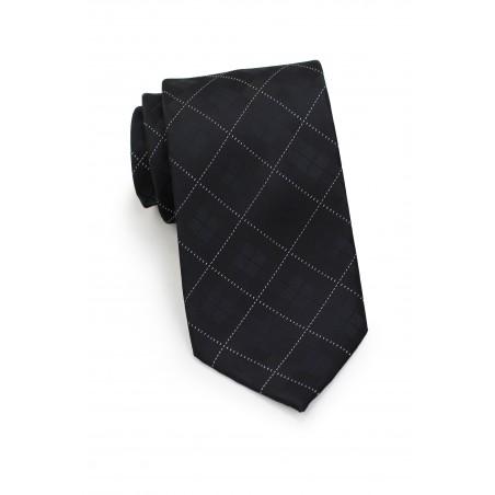 Trendy Kids Plaid Tie in Black