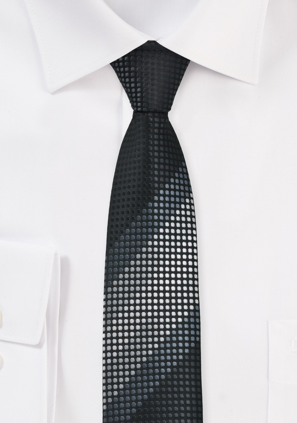 Skinny Tie in Blacks and Silvers
