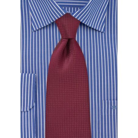 Merlot Red Kids Tie in Micro Check