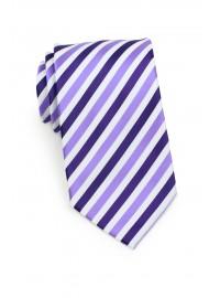 Striped Tie in Purples