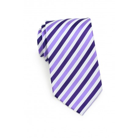 Striped Extra Long Tie in Purples