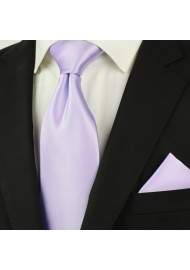 Soft Lavender Solid Colors Tie Styled