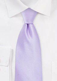 Solid Colored Kids Tie in Light Lavender