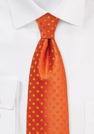 Fire Cracker Orange Polka Dot Necktie