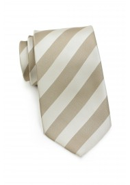 Soft Gold Striped Kids Necktie