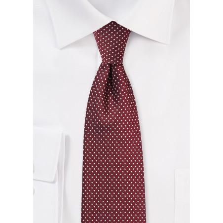 Burgundy Hued Pin Dot Tie