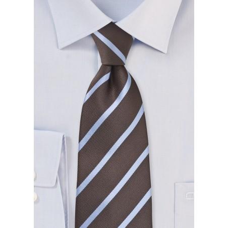 Espresso Brown and Grey Tie
