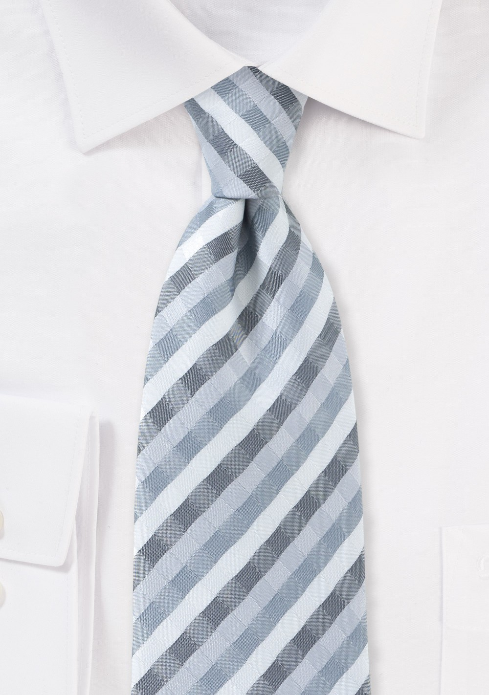 Modern Tie in Greys and Silver